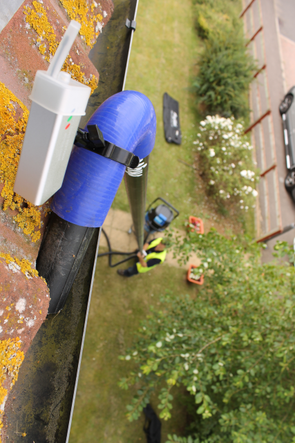 Skyvac gutter cleaning system