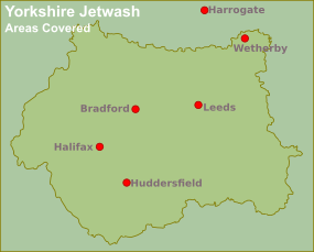 Areas covered by Yorkshire Jetwash